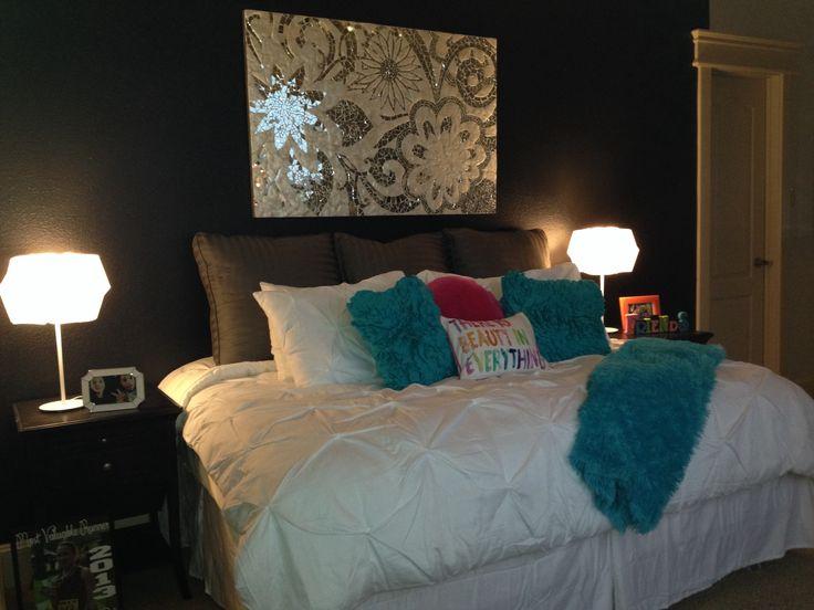 teal and black bedroom. Black Bedroom Furniture Sets. Home Design Ideas