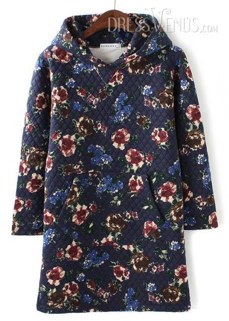 US$36.99 Fantastic Euramerican Long Sleeves Floral Print Retro Long