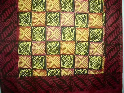 Batik Wall hanging African, African painted cloth :Tribal art, Ethnic ...