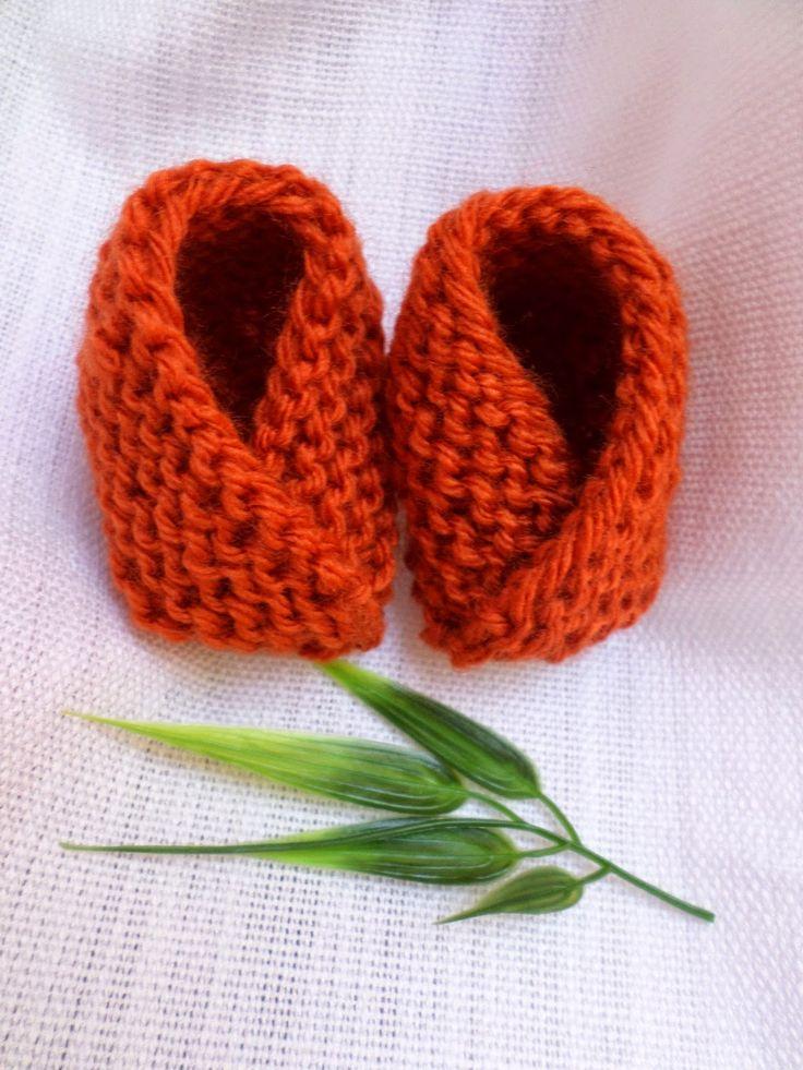 Pumpkin Spice Baby Booties! | Knitting and Crochet | Pinterest