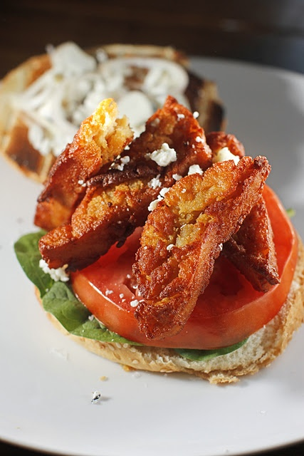 Fried Chickpea Sandwich + Blue Cheese & Tomato