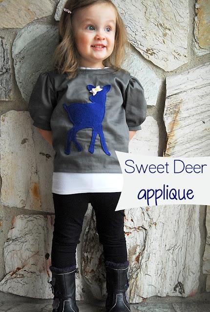 cute deer applique