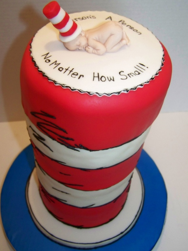 be the top portion of the cake dr seuss baby shower cake adorable