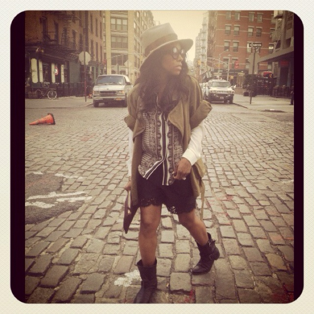 Fashion Dossier: Zara Blouse & Boots,Erdem Shorts,Isabel Marant jkt,Selima Hat