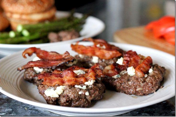 Bacon Blue Cheese Burger_LYK8 | Healthy Stuff | Pinterest