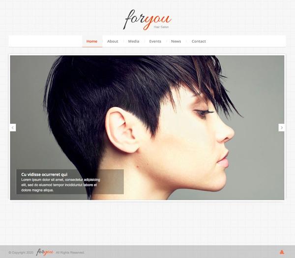 Hair Salon Websites : Hair Salon Responsive Web Template Flyer Pinterest