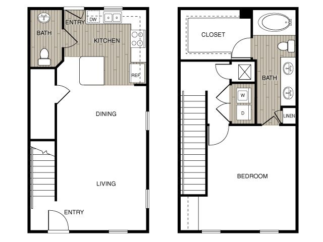 Love this for a tiny house floor plan tiny house Tiny 2 story house plans