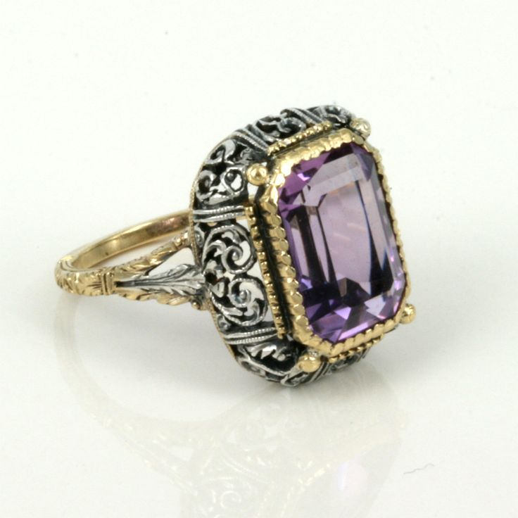 amethyst ring vintage - photo #13