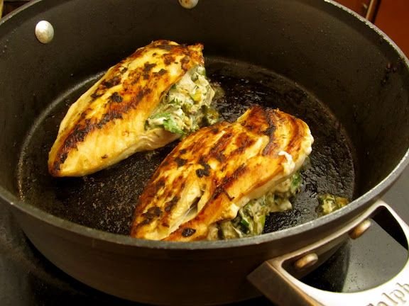 Lemon, Artichoke and goat cheese stuffed chicken - holy yum, gotta ...