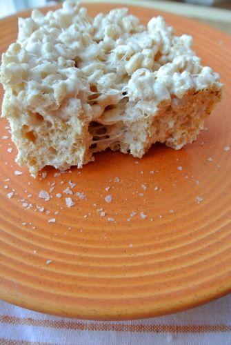 Salted Brown Butter Rice Krispies Treats | Snacks | Pinterest