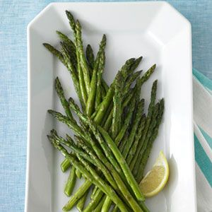 Simple roasted asparagus is a great spring side. #recipes #asparagus # ...