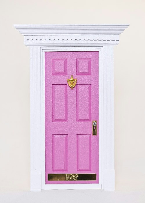 Little pink fairy door pink pinterest for Pink fairy door