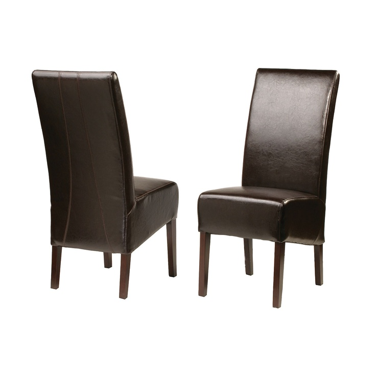 """Ralph Dining Chair   Ralph Dining Chair  Bycast  17"""" W x 25"""" D x 41"""" H  Finish/Color(s): Java"""