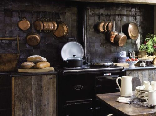 grey wood with copper accents  Grey Kitchens  Pinterest
