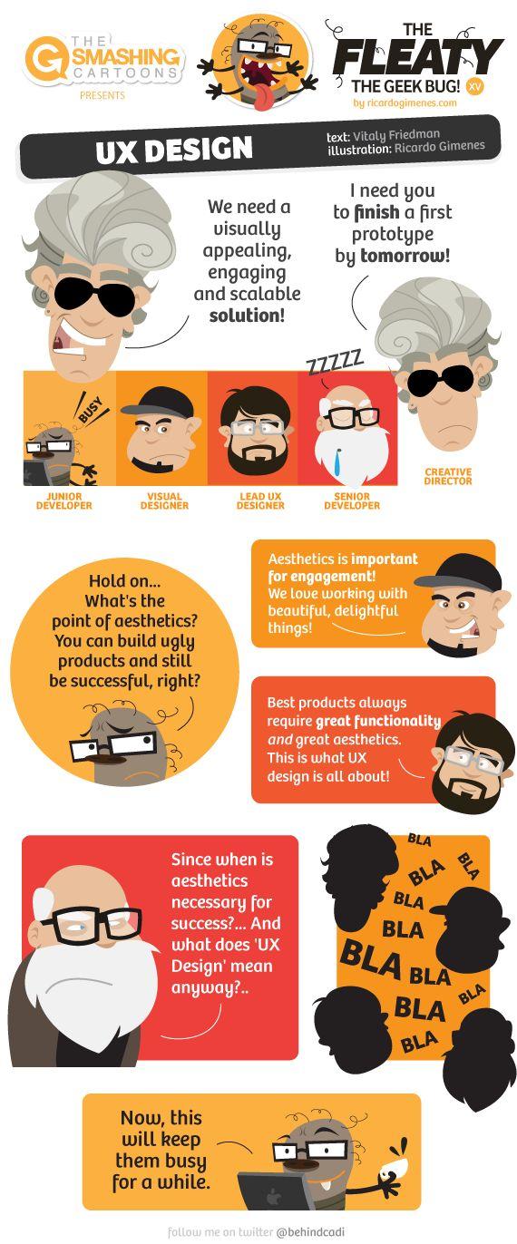 Cartoon #54: UX Design #geek #cartoon