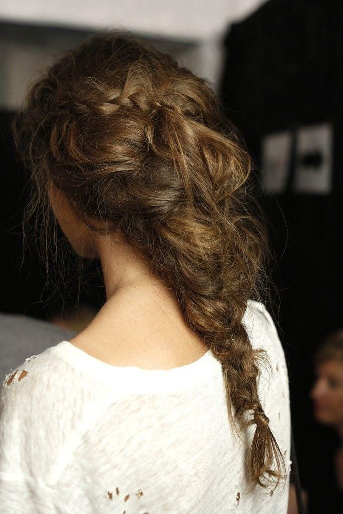 Beautiful Messy Hairstyle : Messy braid beautiful hair