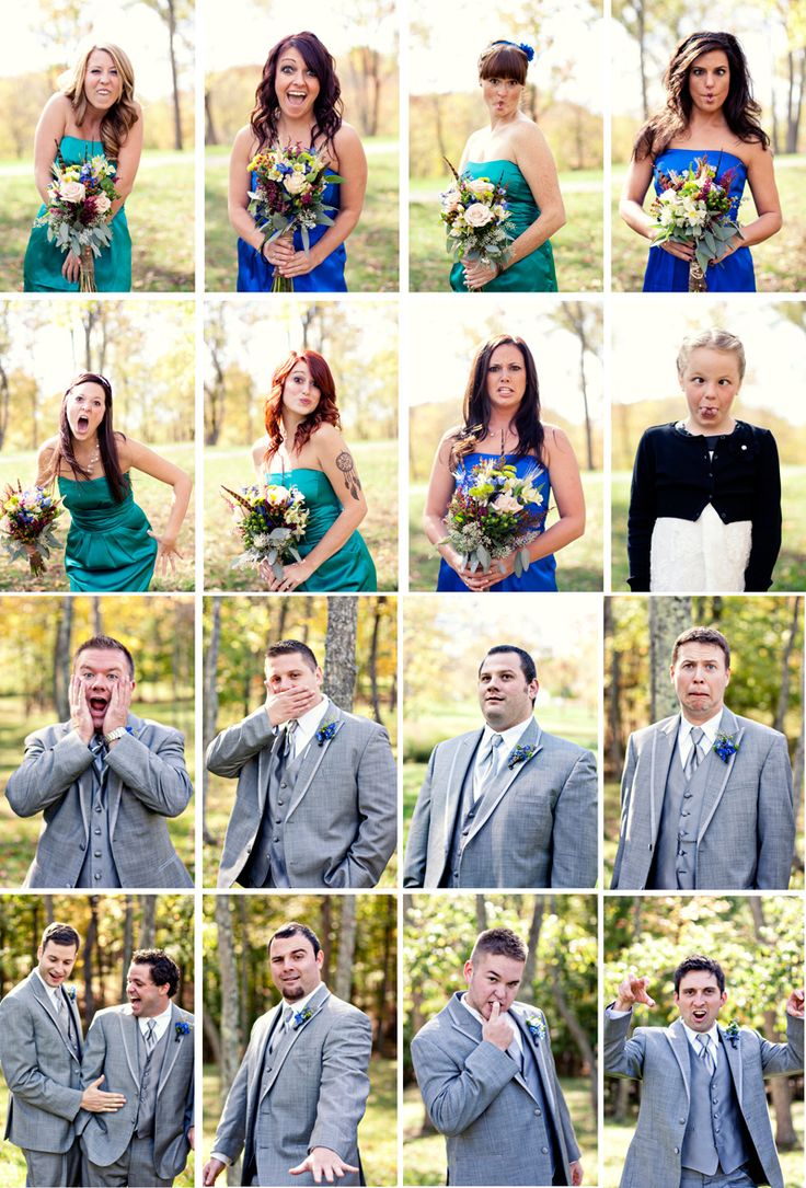 Fun Bridal Party Photos - Bridesmaids and Groomsmen by Janne Photography - www.jannephoto.com