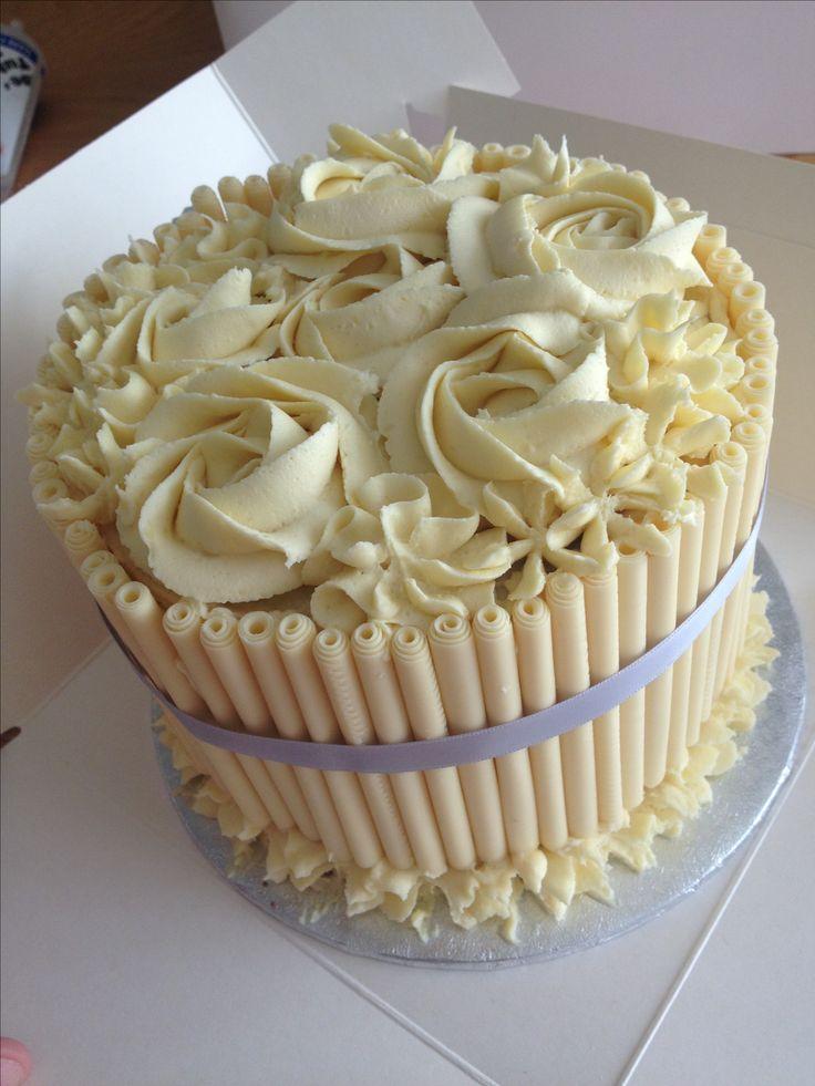 Cake Decoration With White Chocolate : White chocolate birthday cake Winter Wonderland Party Pinterest