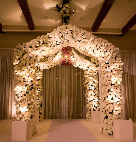 Pin by chelsey virgel on wedding pinterest for Arch wedding decoration ideas