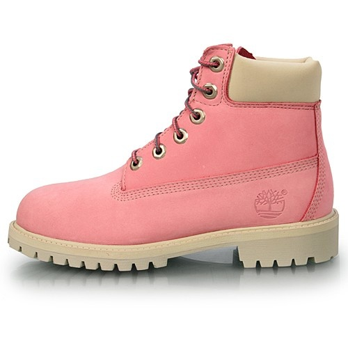Simple KIDS TIMBERLAND 12719 LACE UP 6 INCH PINK BOOTS SHOES SIZE UK 135 EUR