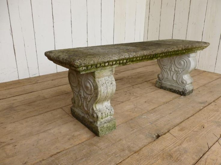 Antique Stone Garden Seat Beton Pinterest