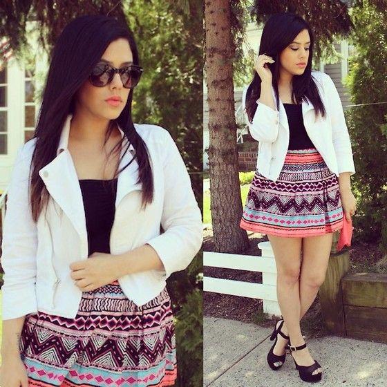 Skirt, Mandee Shoes, Jacket