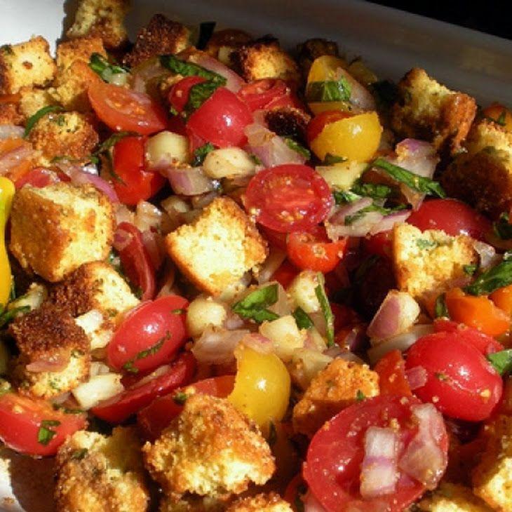 Tomato Bread Salad with Herbs II Recipe | Food | Pinterest