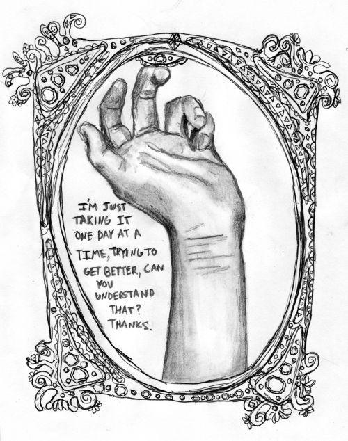Self Harm Tumblr Drawi...