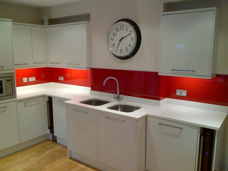 red kitchen glass backsplash dream house