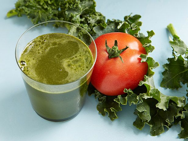 Savory Kale-Tomato Juice: Kale, the king of greens, is packed with vitamin K-which is a close friend to calcium and helps with bone strength.