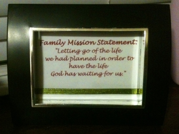 family mission statement ideas