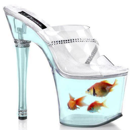 Fishbowl shoes sea the water creature pinterest for Shoes with fish in them