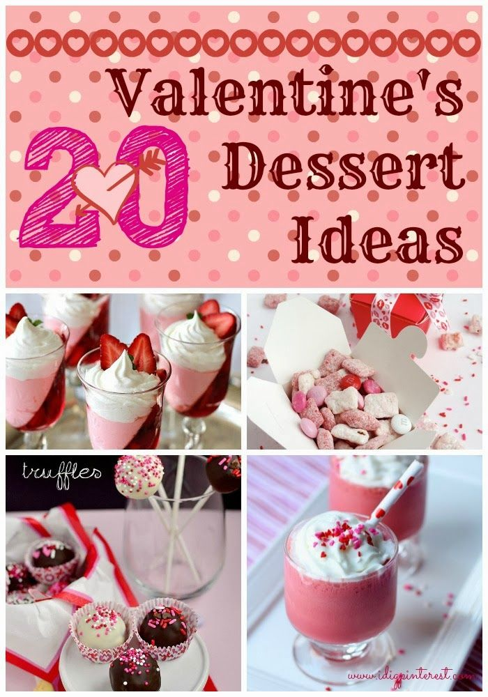 20 Perfect Valentine 39 S Day Desserts Holidays Pinterest