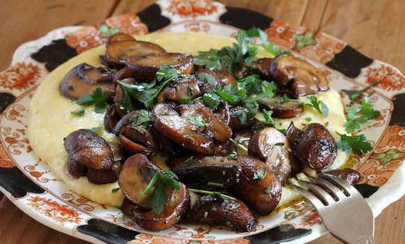 Soft Polenta with Sauteed Mushrooms | Foods I want to eat now! | Pint ...