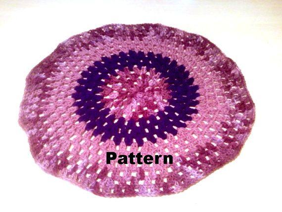 Digital Crochet Pattern Granny Circle Baby Blanket PDF