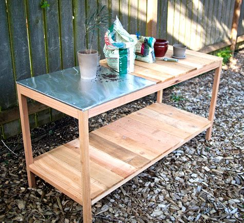 diy outdoor planting table fun projects pinterest