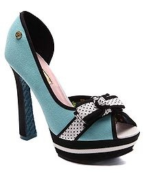 Raspberry Ripple Peep Toe Heels in Blue Sale - Babycham Sale