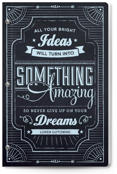 inspirational personalized journal signs sayings