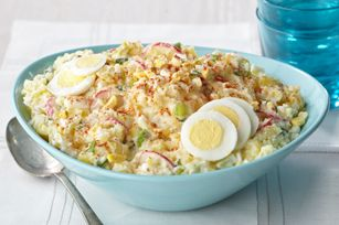 Country style smashed potato salad