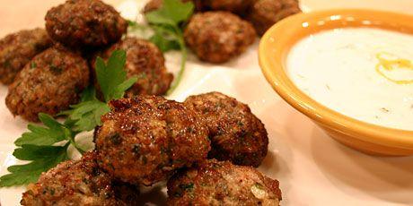 Spicy Lamb Meatballs with Mint Yogurt Recipes | Food Network Canada