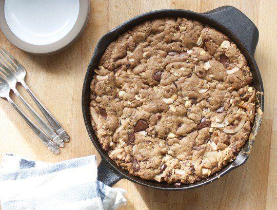 Easy Dessert Recipe: Dark Chocolate & Hazelnut Skillet Blondies