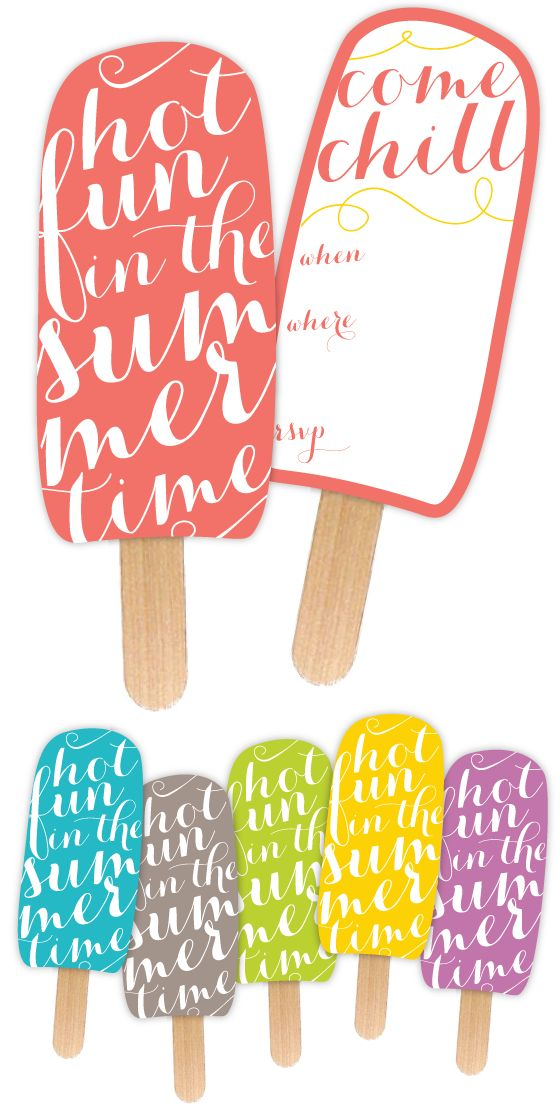 Free Popsicle Invitation Printable from @nicolesclasses!