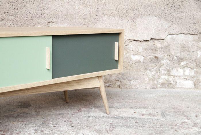 Meuble Tv 100 X 40 : Meuble Tv, 1504025, Esprit Vintage, CrÉation Gentlemen Designers