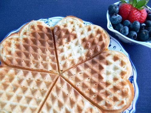 Norwegian Waffles (Vaffler)   Recipes to Try   Pinterest