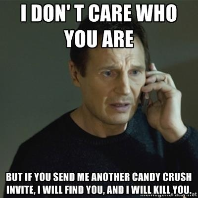 candy crush saga, candy crush saga comic, candy crush saga invite, facebook game invite, annoying game invitations