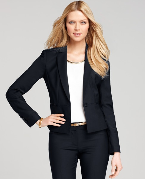 Tropical Wool Melville Jacket by Ann Taylor: This suit looks nice and has options of pants and skirt. Does anyone have suggestions for other options? Thanks! #Suit #Jacket #anntaylor