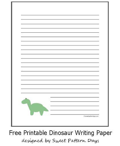 Free Printable Dinosaur Writing Paper | Stationery Printables | Pinte ...