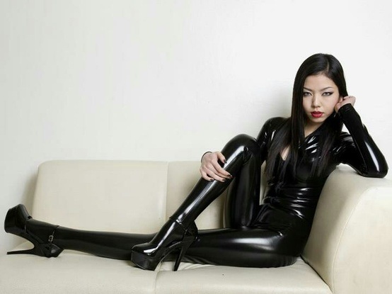 Latex girl asia picture