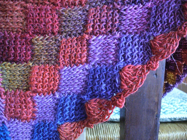 Tunisian Crochet Knit Stitch In The Round : Crochet Entrelac Round the World Crochet: Tunisian Pinterest