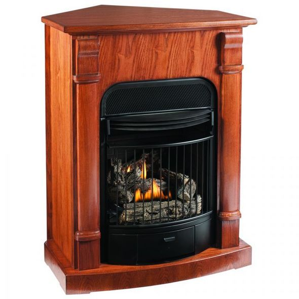 corner natural gas fireplace home pinterest